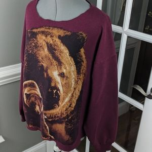 Tops - Vintage Grizzly Bear 80's Style Sweatshirt